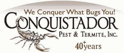 Conquistador Pest and Termite logo